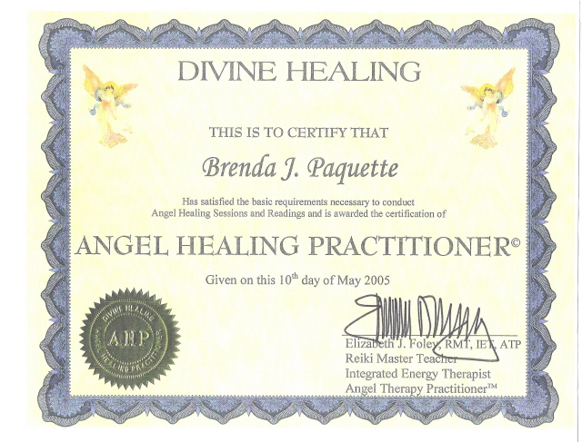 Certificates Awarded to Brenda J. Paquette